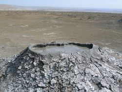 Mud volcanoes, Baku suburbs